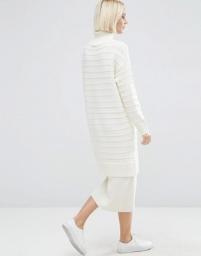 photo Jumper Dress in Chunky Ripple Stitch by ASOS, color Cream - Image 2