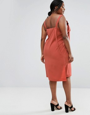 photo Dungaree Style Slip Dress by ASOS CURVE, color Teracotta - Image 2