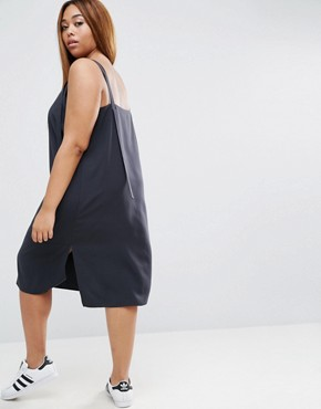 photo Dungaree Style Slip Dress by ASOS CURVE, color Dark Grey - Image 2