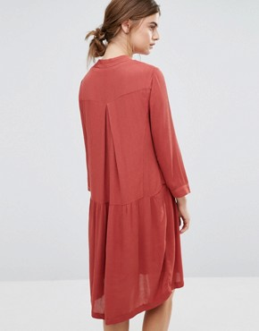 photo Canyon Drape Dress by Just Female, color Marsala Red - Image 2