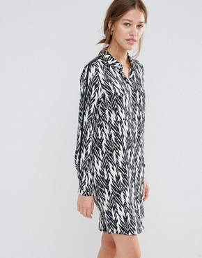 photo Ikat Shirt Dress by Just Female, color Ikat Aop - Image 1