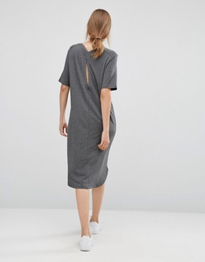 photo Gilli Long T-Shirt Dress by Just Female, color Grey Melange - Image 2