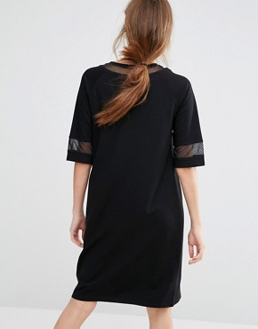 photo Osaka Mesh Dress by Just Female, color Black - Image 2