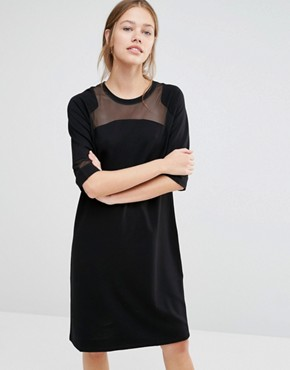 photo Osaka Mesh Dress by Just Female, color Black - Image 1