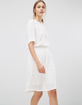 photo Top Plain Dress by Just Female, color Cream - Image 1