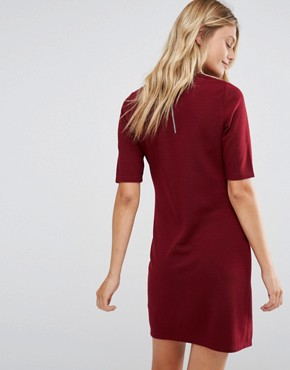 photo High Neck Mini Dress by New Look Maternity, color Burgundy - Image 2
