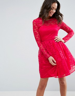 photo Pretty Lace Mini Prom Dress by ASOS, color Pink - Image 1