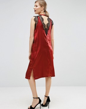photo Lace Insert Dress by ASOS Maternity, color Rust - Image 2