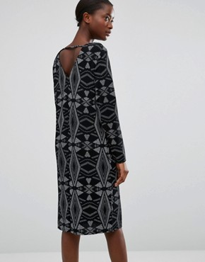 photo Diamond Embellished Dress by b.Young, color Black - Image 2