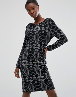 photo Diamond Embellished Dress by b.Young, color Black - Image 1
