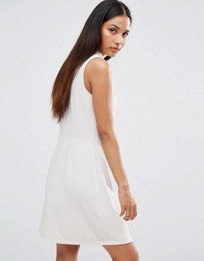 photo Ribbed Sleeveless Shirt Dress With Pocket Detail by AX Paris, color Stone - Image 2