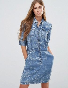 photo Aeryn Denim Shirt Dress by Pepe Jeans, color Indigo - Image 1