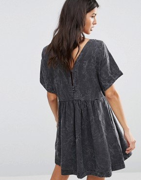 photo Lorette Marble Smock Dress by Pepe Jeans, color Grey - Image 2