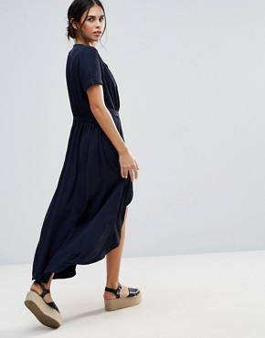 photo Iris Wrap Dress by d.RA, color Navy - Image 2