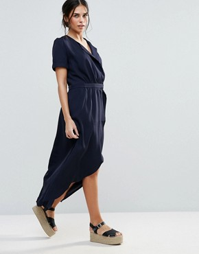 photo Iris Wrap Dress by d.RA, color Navy - Image 1