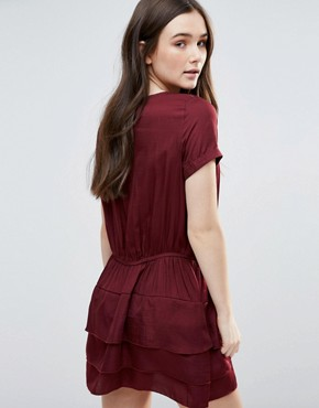 photo Helene Dress with Tiered Skirt by d.RA, color Bordeaux - Image 2