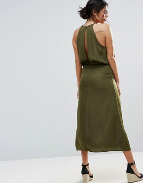 photo Marceline Halter Dress by d.RA, color Cadet Green - Image 2