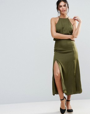 photo Marceline Halter Dress by d.RA, color Cadet Green - Image 1