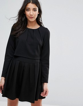 photo Alexa Blousson Skater Dress by d.RA, color Black - Image 1