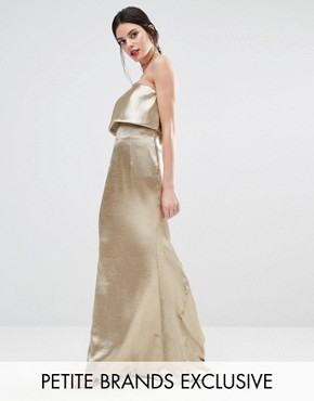 photo Blaze Overlay Maxi Dress by Jarlo Petite, color Gold - Image 1