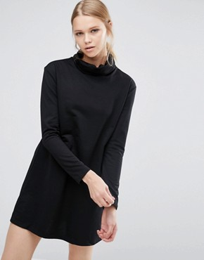 photo High Neck Dress by Love & Other Things, color Black - Image 1
