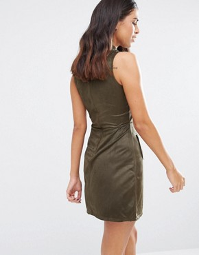 photo High Neck Dress with Pockets by Love & Other Things, color Khaki - Image 2