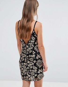 photo Floral Pencil Cami Dress by Love & Other Things, color Black - Image 2