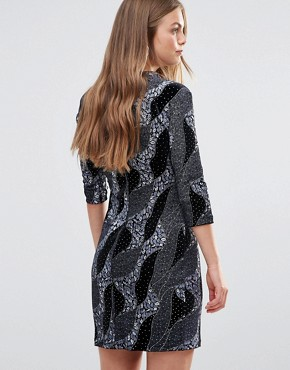 photo High Neck Dress by Love & Other Things, color Black - Image 2