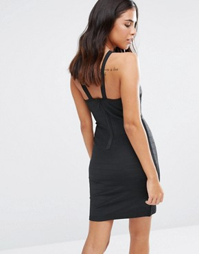 photo Bandage Bodycon Dress by Love & Other Things, color Black - Image 2