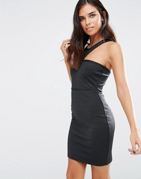 photo Bandage Bodycon Dress by Love & Other Things, color Black - Image 1