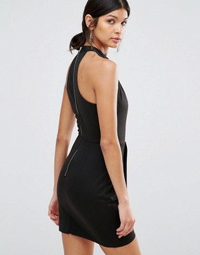 photo Peplum Dress with Keyhole by Love & Other Things, color Black - Image 2