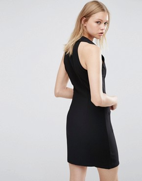 photo Zip Front Bodycon Dress by Love & Other Things, color Black - Image 2