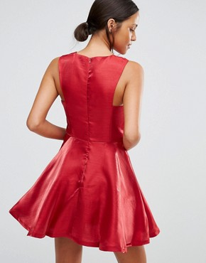 photo Skater Dress with Cut Ins by Love & Other Things, color Red - Image 2
