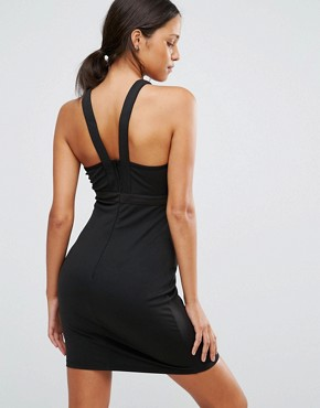 photo Cage Detail Bodycon Dress by Love & Other Things, color Black - Image 2