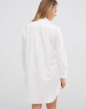 photo Home Alone Shirt Dress by Maison Scotch, color White - Image 2