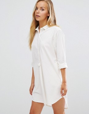 photo Home Alone Shirt Dress by Maison Scotch, color White - Image 1