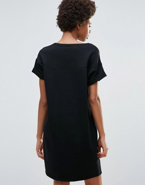 photo Sweat T-Shirt Dress by Maison Scotch, color Black - Image 2