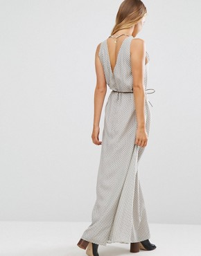 photo Tie Waist Maxi Dress by Maison Scotch, color Grey - Image 2