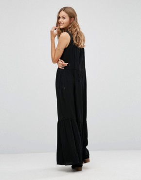 photo Mesh Insert Maxi Dress by Maison Scotch, color Black - Image 2