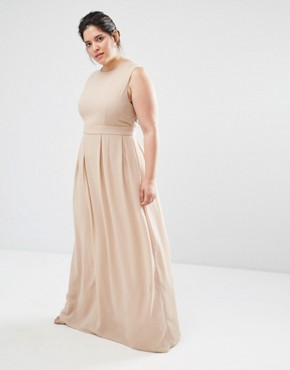 photo Delicate Maxi Dress with Embellished Back by Lovedrobe Luxe, color Mink - Image 2