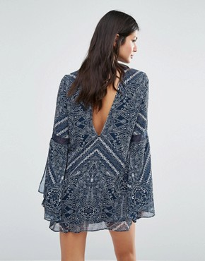 photo Moroccan Mini Dress by The Jetset Diaries, color Moroccan Tile Print - Image 2