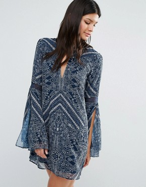 photo Moroccan Mini Dress by The Jetset Diaries, color Moroccan Tile Print - Image 1