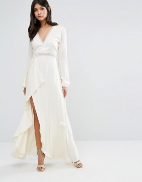 photo Empire Maxi Dress by The Jetset Diaries, color Pearl - Image 1