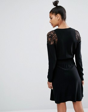photo Lace Shoulder Detail Dress by Sonia by Sonia Rykiel, color Black - Image 2