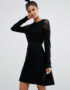 photo Lace Shoulder Detail Dress by Sonia by Sonia Rykiel, color Black - Image 1