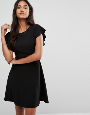 photo Dihab Ruffle Dress with Open Back by Supertrash, color Black - Image 1