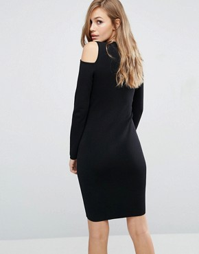 photo Damara Open Shoulder Bodycon Dress by Supertrash, color Black - Image 2
