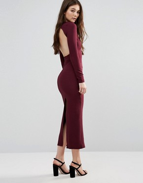 photo Long Sleeve Maxi Dress by Twin Sister, color Mauve - Image 2