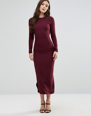 photo Long Sleeve Maxi Dress by Twin Sister, color Mauve - Image 1