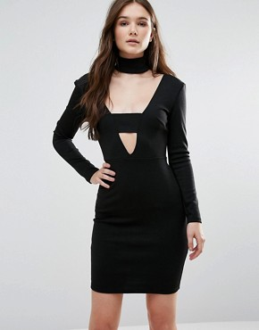 photo Bar Front Dress by Twin Sister, color Black - Image 1